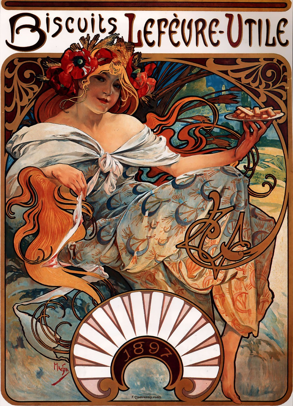 Alfons_Mucha_-_1896_-_Biscuits_Lefèvre-Utile